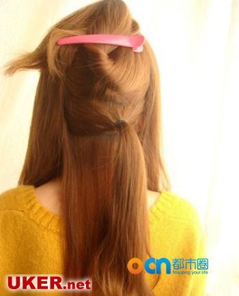2012夏季中长发发型扎法 中长发怎么扎才好看?