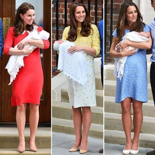 凯特王妃三次产后亮相着同一品牌服装或向婆婆致敬
